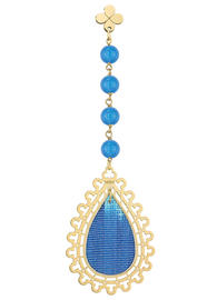 single-rosary-silk-blue-earring