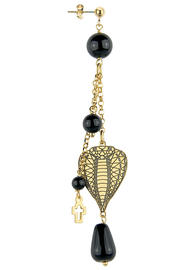 single-serpent-black-tuft-head-earring