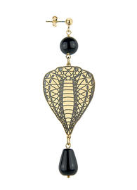 single-big-head-black-snake-earring