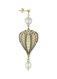 single-small-pearl-head-snake-earring