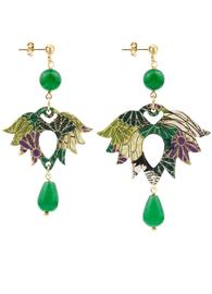 lotus-small-green-silk-earrings