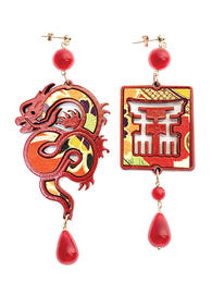 silk-earrings-with-dragon-and-small-red-lacquer-4351