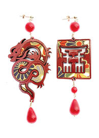 silk-earrings-with-dragon-and-small-red-lacquer-4353