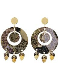 earrings-tan-mono-round-amber
