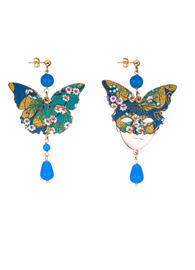 small-blue-butterfly-and-silk-mask-earrings