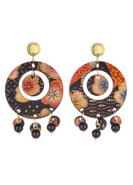 earrings-tan-mono-round-black