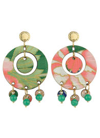 earrings-tan-mono-round-green