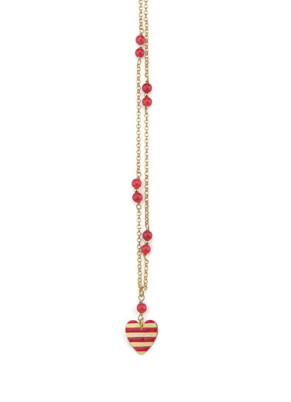 a-te-che-sei-heart-long-red-necklace