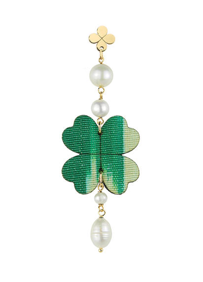pearl-silk-fourleaf-clover-single-earring