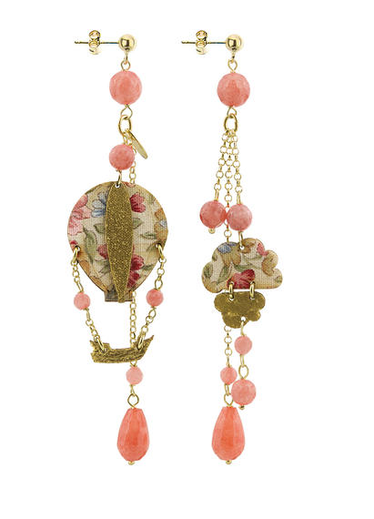 faceted-pink-long-hot-air-ballon-earring-with-pendants