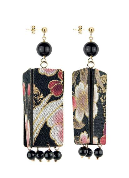 earrings-lantern-silk-small-leather-black