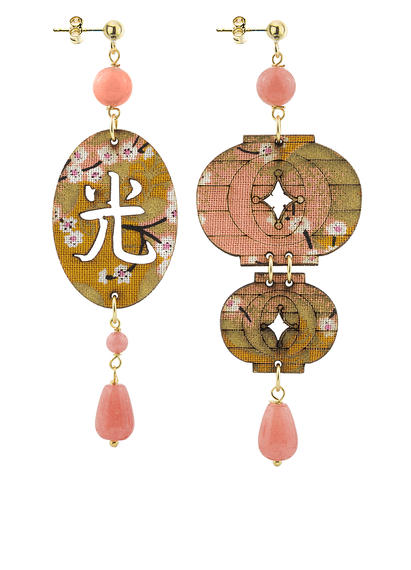 faceted-pink-shaded-silk-lantern-earrings