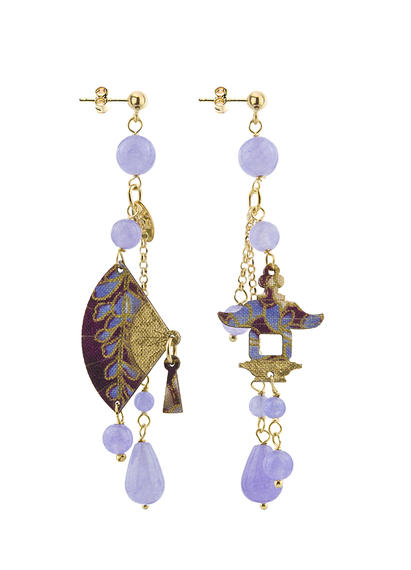 lilac-short-fan-earring-with-pendants