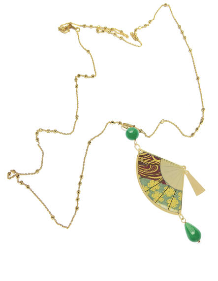 big-silver-and-silk-green--necklace