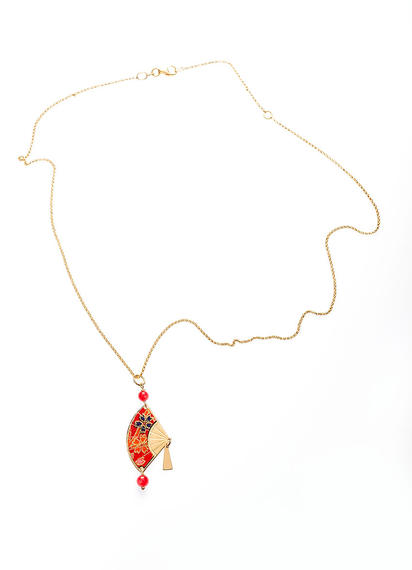 necklace-with-ruby-fan-pendant