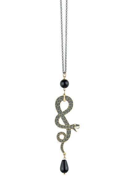 large-snake-coiled-long-black-necklace