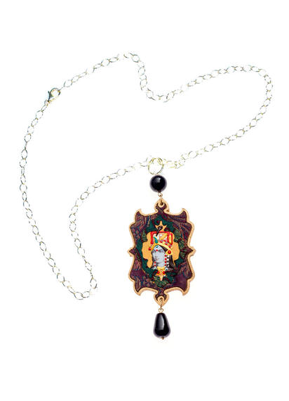 india-small-black-necklace-yellow