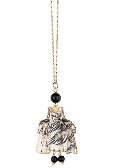 dama-toile-de-jouy-mini-black-necklace
