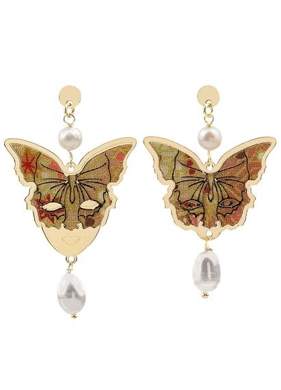 butterfly-and-mask-silver-mini-pearl-earrings