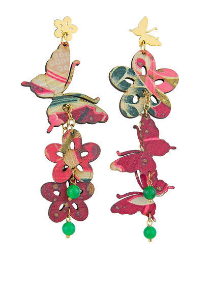small-green-butterfly-and-silk-flowers-earrings