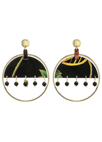 big-enso-black-earrings