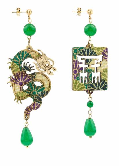 dragon-silk-and-leather-green-earrings