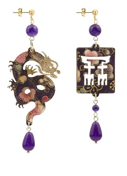 dragon-silk-and-purple-leather-earrings