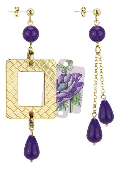 purple-peony-frame-earrings