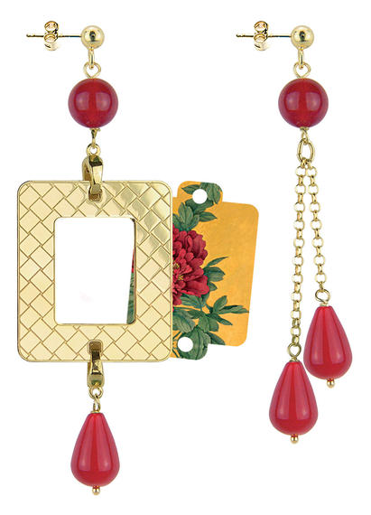 red-peony-frame-earrings