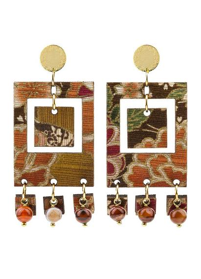 earrings-tan-mono-rectangular-brown