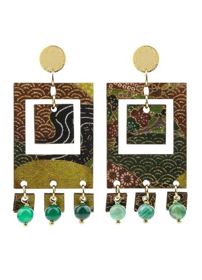 earrings-tan-mono-rectangular-green