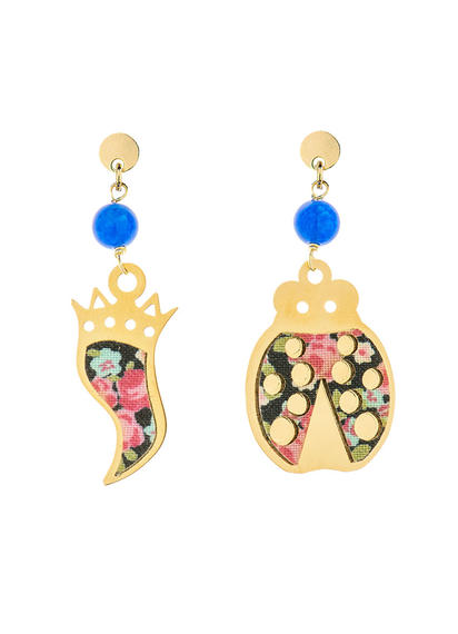 mini-blue-horn-and-ladybug-earrings