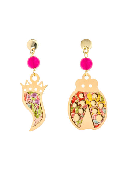 mini-fuchsia-horn-and-ladybug-earrings