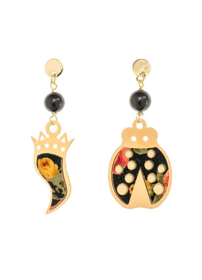 mini-black-horn-and-ladybug-earrings