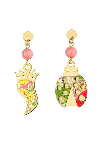 mini-faceted-pink-horn-and-ladybug-earrings