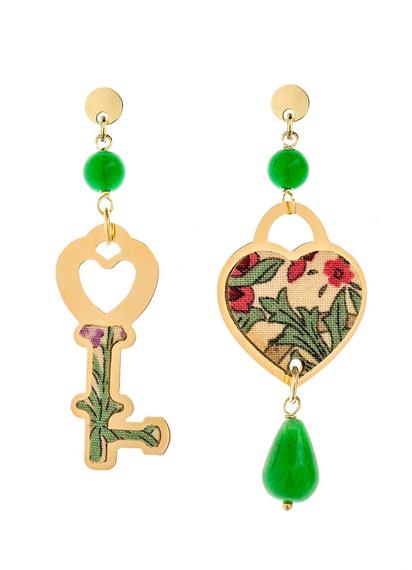 mini-green-heart-and-key-earrings