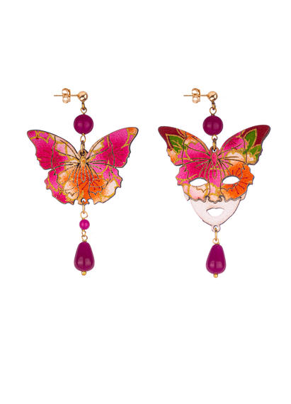 small-fuchsia-butterfly-and-silk-mask-earrings