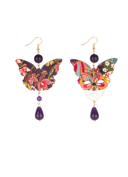 butterfly-earrings-and-large-purple-silk-mask