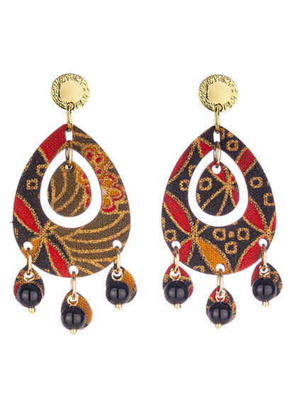 earrings-tan-mono-oval-black