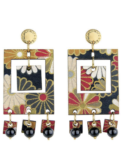 earrings-tan-mono-rectangular-black