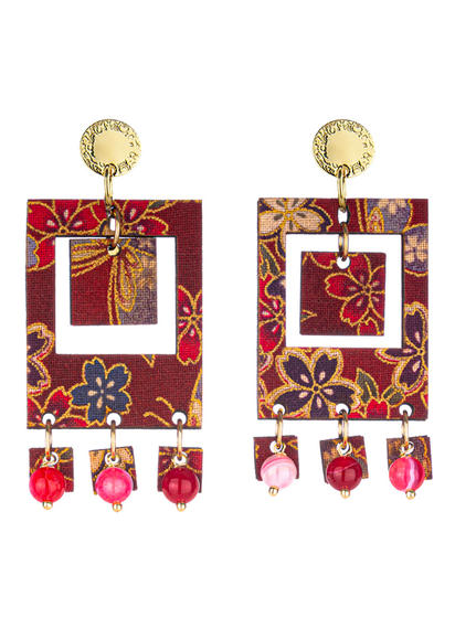 earrings-tan-mono-rectangular-red